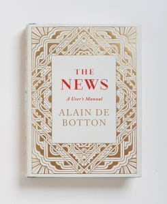 De Botton's latest book breaks down 32 archetypal news stories and displays how they keep repeating themselves in the news.
